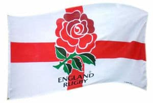 England Rugby Club Large Flag style 1 - 5' x 3'.