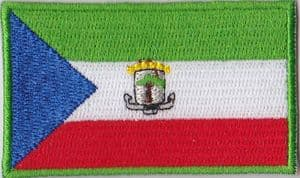 Equatorial Guinea Embroidered Flag Patch, style 04