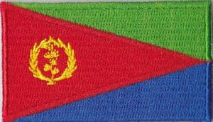 Eritrea Embroidered Flag Patch, style 04