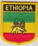 Ethiopia Lion Embroidered Flag Patch, style 07.