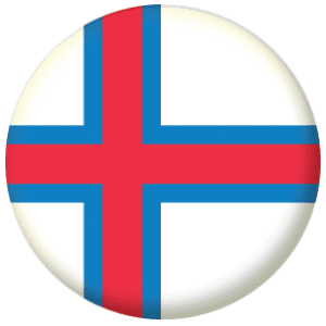 Faroe Islands Country Flag 25mm Flat Back