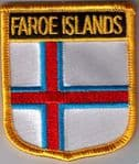 Faroe Islands Embroidered Flag Patch, style 07.