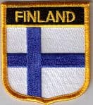 Finland Embroidered Flag Patch, style 07.