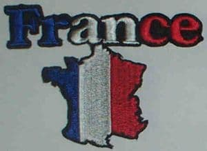 France Embroidered Flag Patch, style 05.