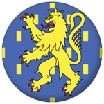 Franche-Comté Province Flag 25mm Pin Button Badge
