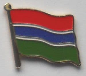 Gambia Country Flag Enamel Pin Badge