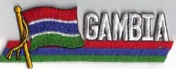 Gambia Embroidered Flag Patch, style 01.