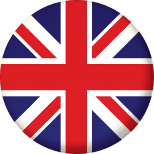 Great Britain Union Jack Country Flag 58mm Mirror Keyring