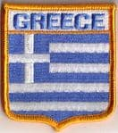 Greece Embroidered Flag Patch, style 06.