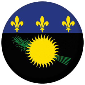Guadeloupe Country Flag 25mm Pin Button Badge