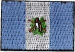Guatemala Embroidered Flag Patch, style small (discontinued).
