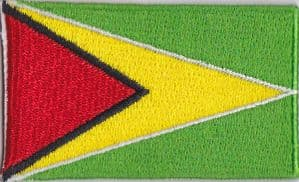 Guyana Embroidered Flag Patch, style 04