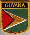 Guyana Embroidered Flag Patch, style 07.