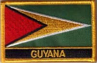Guyana Embroidered Flag Patch, style 09.