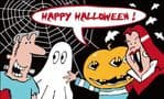 Happy Halloween Cartoon Party Large Flag - 5' x 3'
