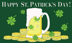 Happy St Patrick's Day (beer) Large Flag - 5' x 3'.