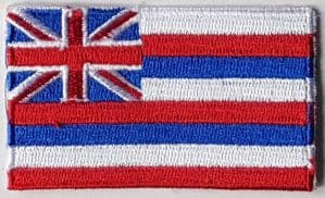 Hawaii Embroidered Flag Patch, style 04