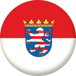 Hesse State Flag 25mm Fridge Magnet