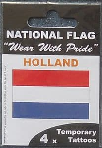 Holland Country Flag Tattoos.