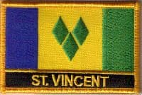 St. Vincent Embroidered Flag Patch, style 09.