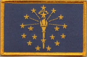 Indiana Embroidered Flag Patch, style 08.