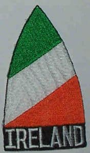 Ireland Embroidered Flag Patch, style 02.