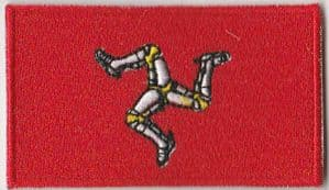 Isle of Man Embroidered Flag Patch, style 04