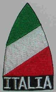 Italy Embroidered Flag Patch, style 02.