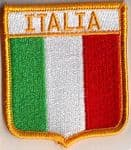 Italy Embroidered Flag Patch, style 06.