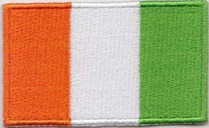 Ivory Coast Embroidered Flag Patch, style 04