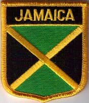Jamaica Embroidered Flag Patch, style 07.