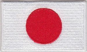 Japan Embroidered Flag Patch, style 04.