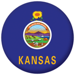 Kansas State Flag 25mm Pin Button Badge