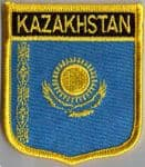 Kazakhstan Embroidered Flag Patch, style 07.