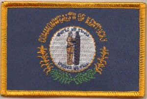 Kentucky Embroidered Flag Patch, style 08.