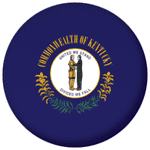 Kentucky State Flag 25mm Pin Button Badge