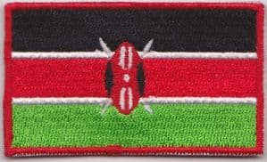 Kenya Embroidered Flag Patch, style 04.