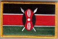 Kenya Embroidered Flag Patch, style 08.