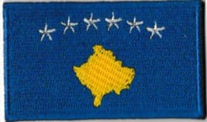 Kosovo Embroidered Flag Patch, style 04