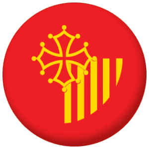 Languedoc-Roussillon Province Flag 25mm Pin Button Badge