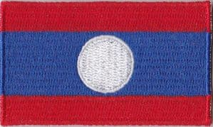 Laos Embroidered Flag Patch, style 04