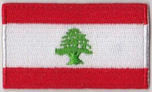 Lebanon Embroidered Flag Patch, style 04.