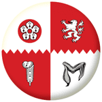 Leicestershire County Flag 58mm Mirror Keyring