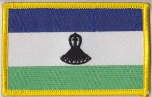 Lesotho Embroidered Flag Patch, style 08.