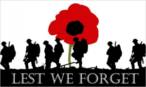 Lest We Forget Army Large Flag - 5' x 3'.