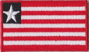 Liberia Embroidered Flag Patch, style 04
