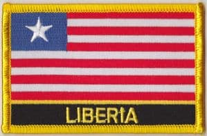 Liberia Embroidered Flag Patch, style 09.