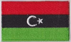 Libya Embroidered Flag Patch, style 04