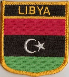 Libya Embroidered Flag Patch, style 07.