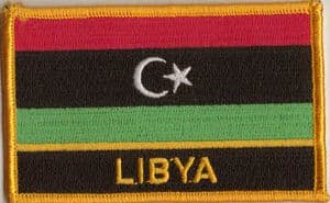 Libya Embroidered Flag Patch, style 09.